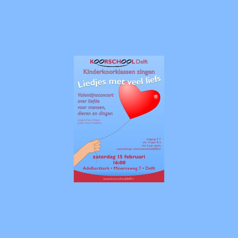 Valentijnsconcert liedjes met veel liefs van Koorschool Delft 2020